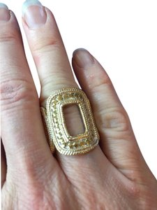 Anna Beck Anna Beck, bead set, sterling and gold, cut-out ring