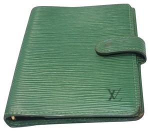 Louis Vuitton Louis Vuitton Green Epi leather Agenda LVML20