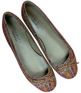 Talbots Multicolored, Red, Yellow Flats