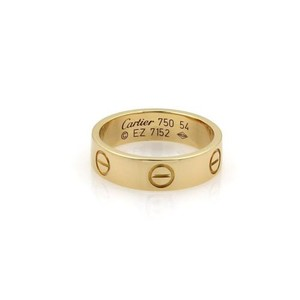 Cartier Cartier Love 18k Yellow Gold 5.5mm Band Ring Eu 54-us