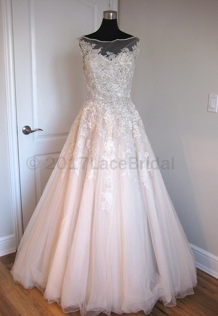 Item - Coffee/Champagne Tulle and Lace 8726 Formal Wedding Dress Size 8 (M)