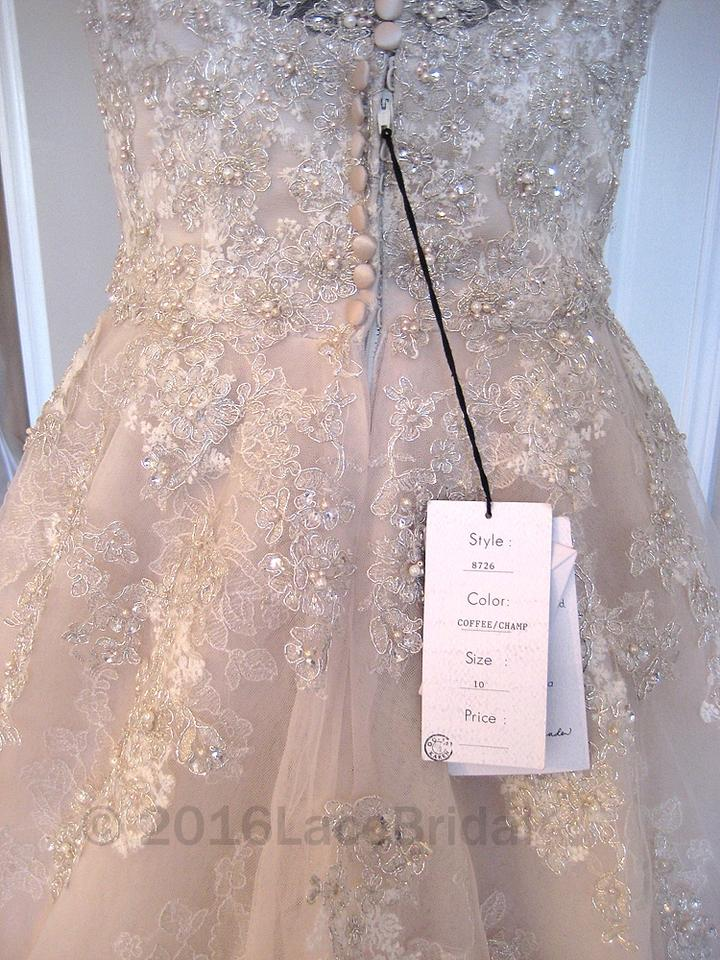 c7b2f81d3 Justin Alexander Coffee/Champagne Tulle and Lace 8726 Formal Wedding Dress  Size 8 (M. 123456789101112