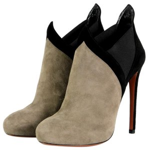 ALAA Alaia Heels Suede Black and Gray Boots