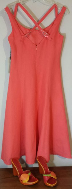 Adrienne Vittadini (4) short dress Coral Linen Sundress New With Tags on Tradesy