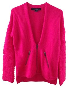 French Connection Fuchsia Bright Wool Cardigan
