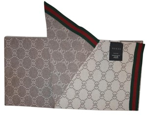 Gucci NEW GUCCI WOOL REVERSIBLE GG GUCCISSIMA SCARF MADE IN ITALY