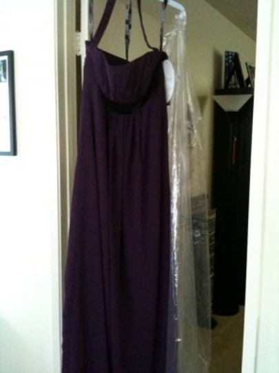 Alfred Angelo Eggplant Chiffon Empire Line 7016 Formal Bridesmaid/Mob Dress Size 8 (M)