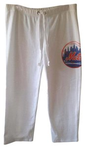Victoria's Secret Large Sweats Mets Vs Pink Athletic Pants White