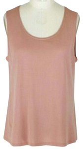 Eileen Fisher Silk Layer Top Nude / Toffee