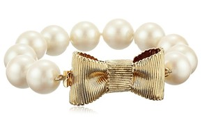 Kate Spade NWT KATE SPADE ALL WRAPPED UP BRACELET CLASSIC BOW PEARL W DUST BAG