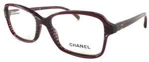 Chanel Chanel Eyeglasses Dark Pink Horn with Case