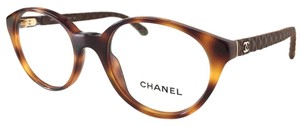 Chanel CHANEL Eyeglasses Tortoise Leather Quilt
