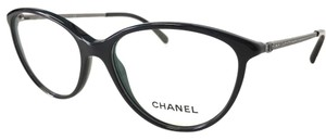 Chanel CHANEL Eyeglasses Black with Crystals