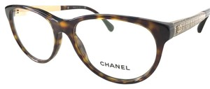Chanel CHANEL Tweed Eyeglasses Tortoise Antique Gold