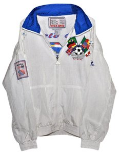 Apex One Vintage Track Soviet Mens White Jacket