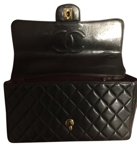 Chanel- Kelly Flap Bag Black Clutch