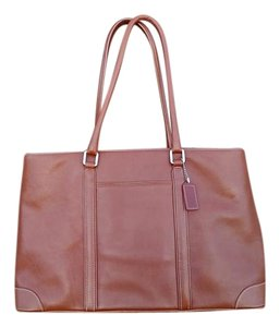 Coach Leather Rolled Handles Hampton Tote in British Tan
