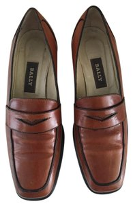 Bally Made Italy Leather Brown Flats