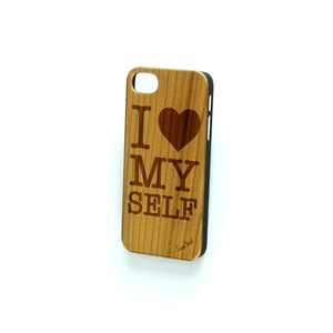 Case Yard NEW Cherry Wood iPhone Case with I Love Myself Design, iPhone 7+