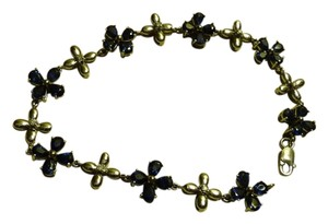 Other 14K White Gold and Sapphire Flower Bracelet