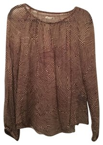 Isabel Marant Silk Delta Zebra Sheer Top