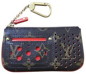 Louis Vuitton Louis Vuitton Orange Perforated Key Pouch