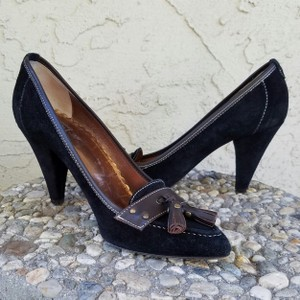 Rafe #rafe #suede #leather #tassles #pumps Black & Brown Pumps
