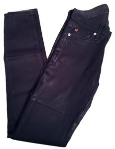Hudson Jeans Coated Ankle Unique Skinny Jeans-Coated