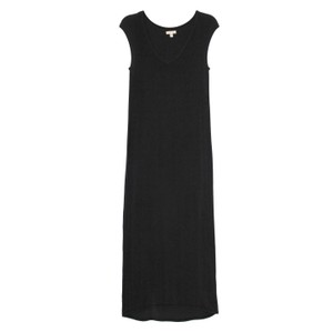 Black Maxi Dress by Silence + Noise Maxi Cotton V-neck