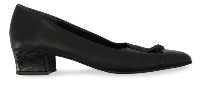 California Magdesians Black Tassel Croc and Leather Slip On Pumps Size EU 37.5 (Approx. US 7.5) Narrow (Aa, N) California Magdesians Black Tassel Croc and Leather Slip On Pumps Size EU 37.5 (Approx. US 7.5) Narrow (Aa, N) Image 1