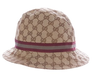Gucci Gucci beige, brown Guccissima monogram bucket hat M