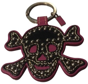 Coach Studded Leather Skull FOB