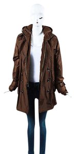 Burberry London Nylon Trench Hooded Jacket Set Trench Coat