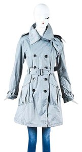Burberry London Nylon Double Breasted Belted Packable Trench Trench Coat