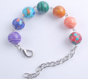 Multi Colored Turquoise Bead Bracelet Free Shipping