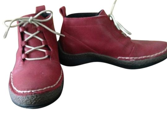 Jambu Red Leather Boots