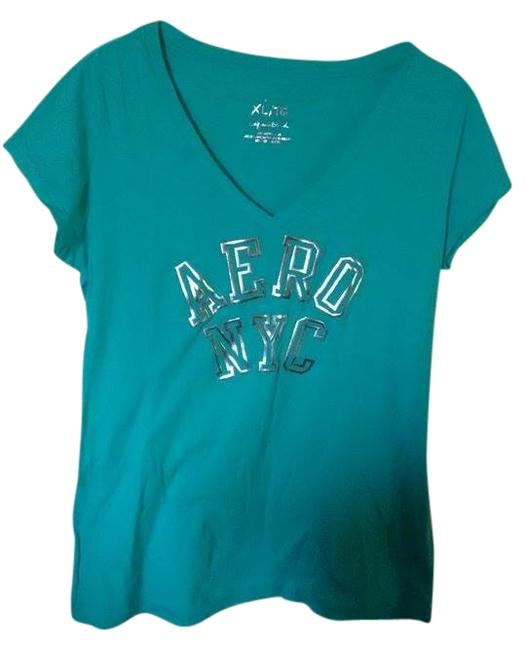 Preload https://item3.tradesy.com/images/aeropostale-turquoise-t-shirt-2032192-0-0.jpg?width=400&height=650