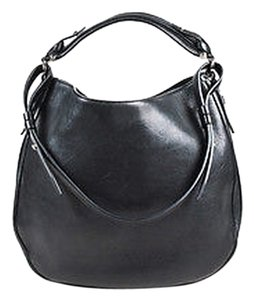 Givenchy Silver Tone Leather Obsedia Hobo Bag