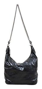 Gucci Leather Crocodile Trim Silver Tone Chain Strap Galaxy Hobo Bag