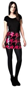 French Connection Sequin Night Out Stretchy Mod Sexy Mini Skirt Pink, Black