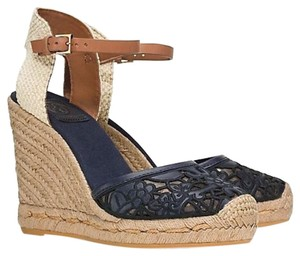 Tory Burch Blue / Black Wedges