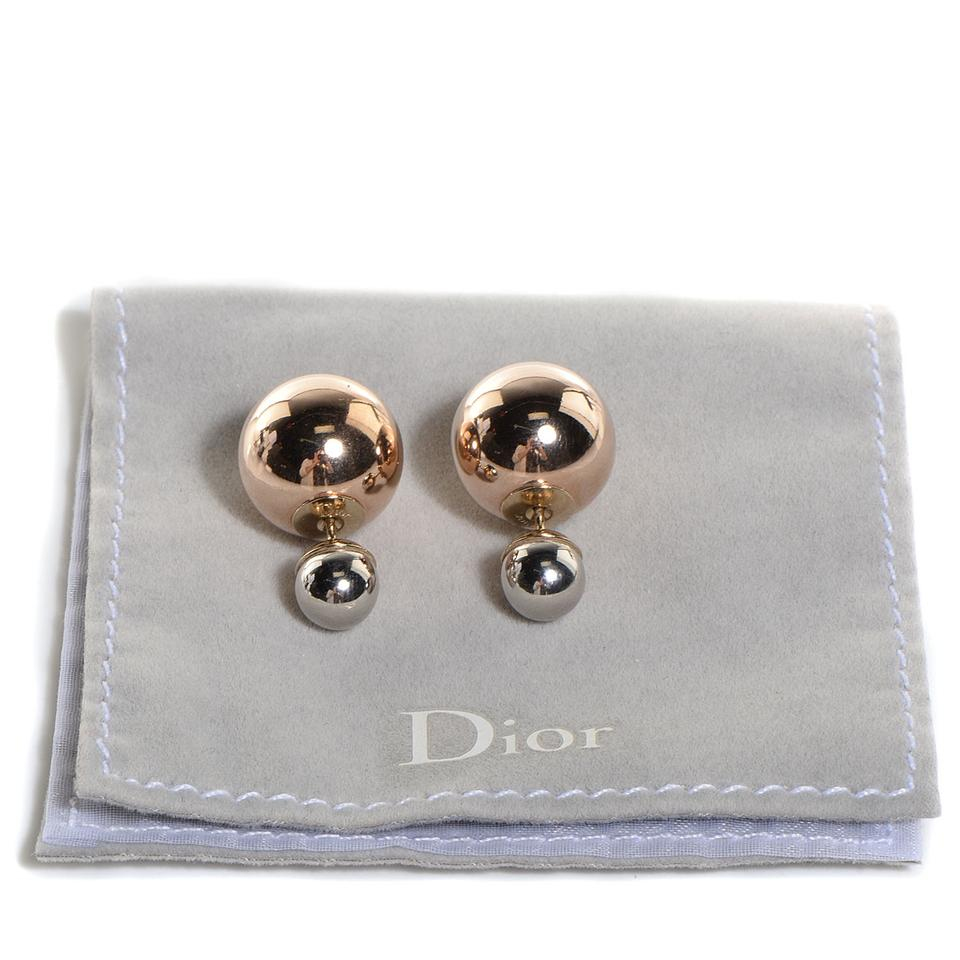Excellent Dior Silver and Gold Christian Mise En Tribal Earrings - Tradesy QX79