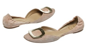 Roger Vivier Nude Pink Flats