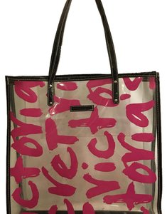 Victoria's Secret Tote in plastic black and pink
