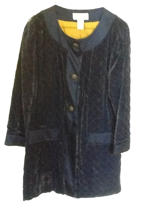 Preload https://item3.tradesy.com/images/soft-surroundings-navy-blue-and-gold-silk-tunic-size-10-m-2032237-0-0.jpg?width=400&height=650
