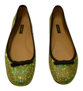 Dolce&Gabbana Design Stunning Made In Italy New Never Worn Green Flats