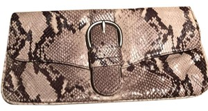 Co-Lab Chris Kon Taupe And Brown Clutch