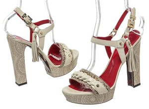Cesare Paciotti Cream Sandals