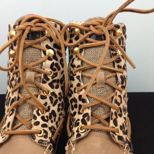 Sperry Beige/ Animal Print Boots