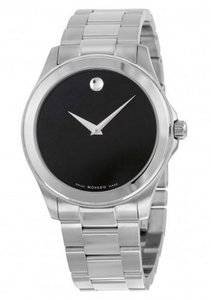 Movado Junior Sport Black Dial Stainless Steel Men Watch 0605746